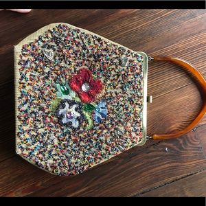 Vintage beaded and embroidered purse